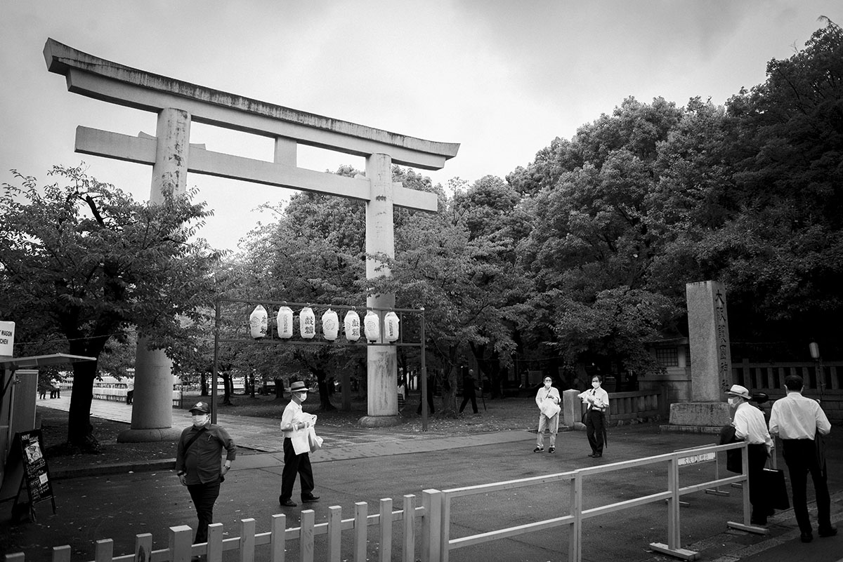 大阪護国神社の鳥居